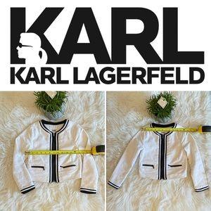 Karl Lagerfeld Kids white cotton blazer Sz 8